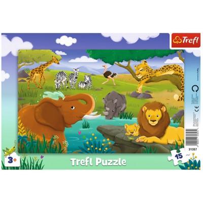 Trefl-31357 Rahmenpuzzle - Savanne