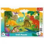Trefl-31359 Rahmenpuzzle - Dinosaurier