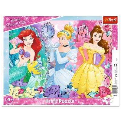 Trefl-31360 Rahmenpuzzle - Disney Princess