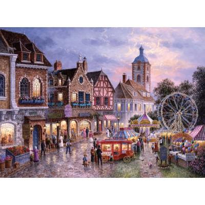 Puzzle  Trefl-33033 Dennis Lewan: Kirmes