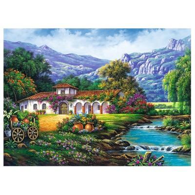 Puzzle  Trefl-33051 Die Hazienda am Bach