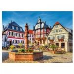 Puzzle  Trefl-33052 Markt im Heppenheim