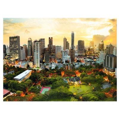 Puzzle  Trefl-33060 Sonnenuntergang in Bangkok