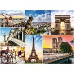Puzzle  Trefl-33065 Collage - Paris