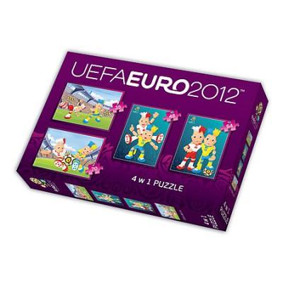 Trefl-34089 4 in 1 Puzzle: UEFA EURO 2012