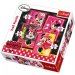 Trefl-34119 4 in 1 Puzzle: Minnie Maus