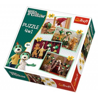 Trefl-34290 4 Puzzles - Treflikow