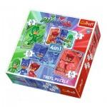 Trefl-34291 4 Puzzles - PJMasks