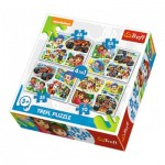 Trefl-34292 4 Puzzles - Dora