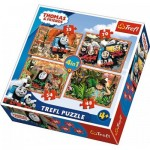 Trefl-34300 4 Puzzles - Thomas & Friends