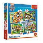 Puzzle  Trefl-34307 4 in 1 - Paw Patrol - Always on Time