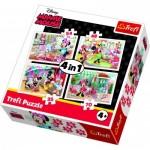 Trefl-34315 4 Puzzles - Minnie