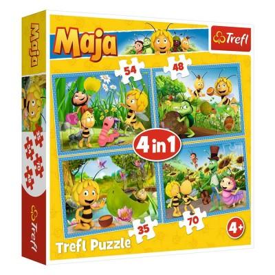 Trefl-34320 4 Puzzles - Maja