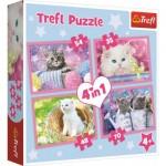 Trefl-34330 4 Puzzles - Kätzchen