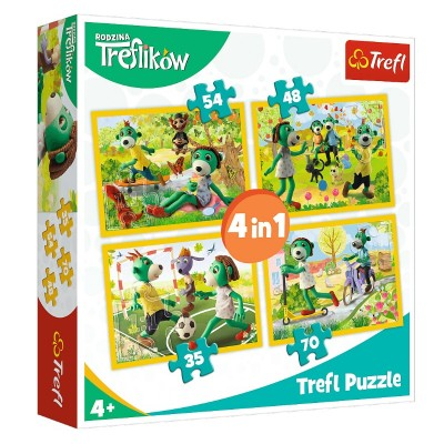 Trefl-34337 4 Puzzles - Treflikow