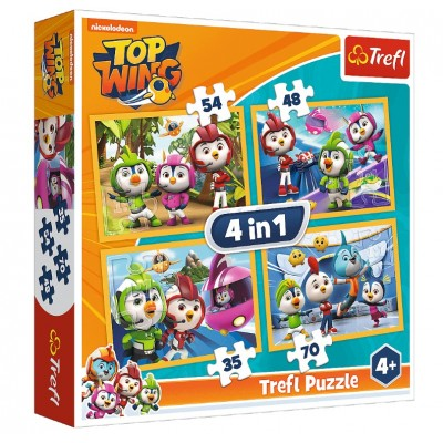 Trefl-34342 4 Puzzles - Nickelodeon - Top Wing