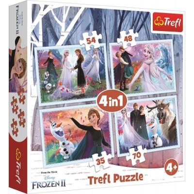 Trefl-34344 4 Puzzles - Frozen 2