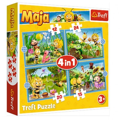 Puzzle Trefl-34356 4 in 1 - Maya the Bee Adventures