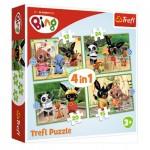 Puzzle  Trefl-34357 4 in 1 - Bing's Happy Day