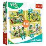 Puzzle  Trefl-34358 4 in 1 - Treflik's common fun