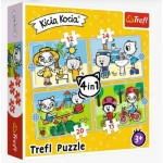 Puzzle  Trefl-34372 4 in 1 - Kittykit day (12-15-20-24 Pièces)