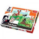 Trefl-34400 2 Puzzles in 1: Der kleine Maulwurf