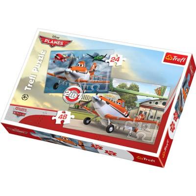 Trefl-34402 2 in 1 Puzzle: Flugzeuge