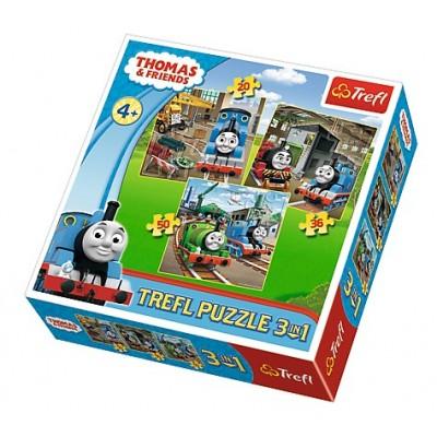 Trefl-34821 3 Puzzles - Thomas & Friends