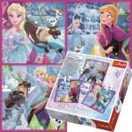 Trefl-34832 3 Puzzles - Frozen