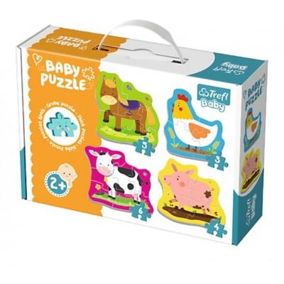 Trefl-36070 4 Baby Puzzles