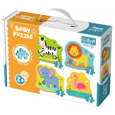 Trefl-36073 4 Baby Puzzles