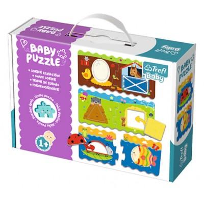 Trefl-36078 4 Baby Puzzles