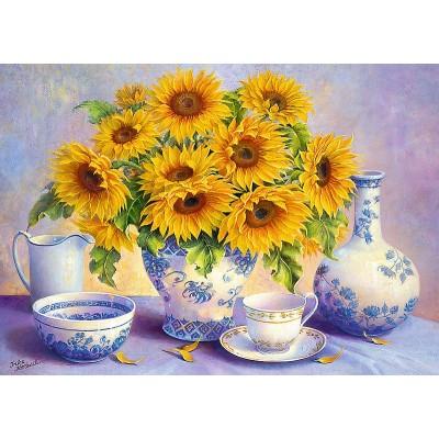 Puzzle Trefl-37293 Hardwick Trisha - Sunflowers