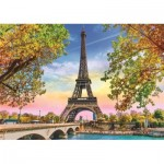 Puzzle  Trefl-37330 Romantisches Paris