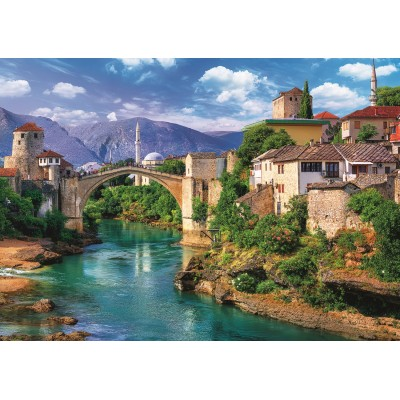 Puzzle Trefl-37333 Old Bridge in Mostar, Bosnia and Herzegovina