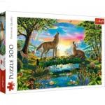 Puzzle  Trefl-37349 Wölfe