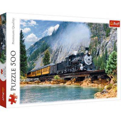 Puzzle  Trefl-37379 Bergzug