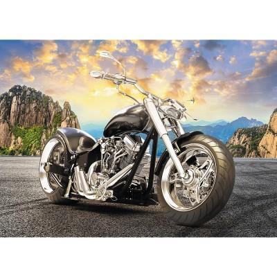 Puzzle Trefl-37384 Black Motorcycle