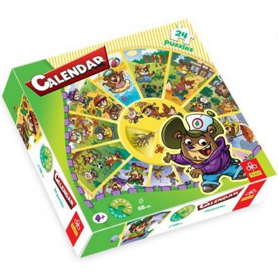 Trefl-39050 24 Teile Rundpuzzle - Kalender
