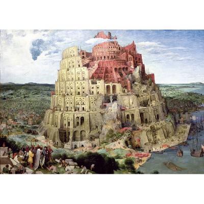 Puzzle  Trefl-45001 Pieter Brueghel der Ältere: Turmbau zu Babel