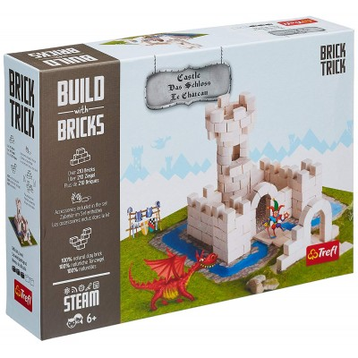 Puzzle  Trefl-60979 Build with Bricks - Das Schloss