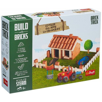 Puzzle  Trefl-60982 Build with Bricks - Die Hütte
