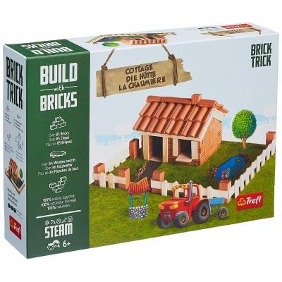 Puzzle Trefl-60982 Build with Bricks - Die Hütte