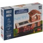 Puzzle  Trefl-60983 Build with Bricks - Das Feuerwehrhaus