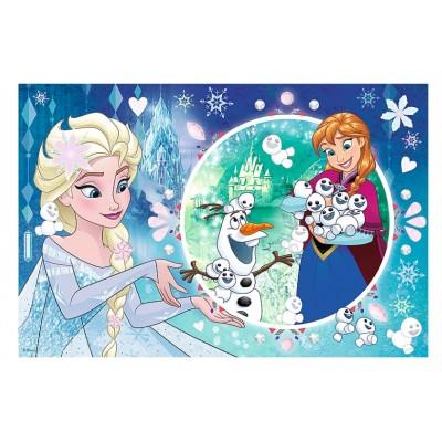 Trefl-75115 Disney Frozen - Puzzle + Stickers
