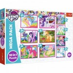 Trefl-90353 Mega Pack 10 Puzzles - My Little Poney