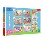 Trefl-90358 10 Puzzles - Peppa Pig