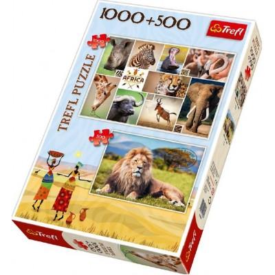 Trefl-90482 2 Puzzles - Afrika