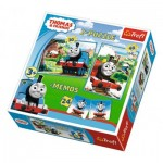 Trefl-90602 2 Puzzles + Memo - Thomas & Friends