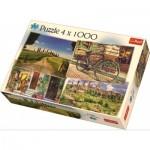 Trefl-90673 4 Puzzles - Italien